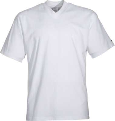 T-Shirt weiss mit V-Ausschnitt, JOB