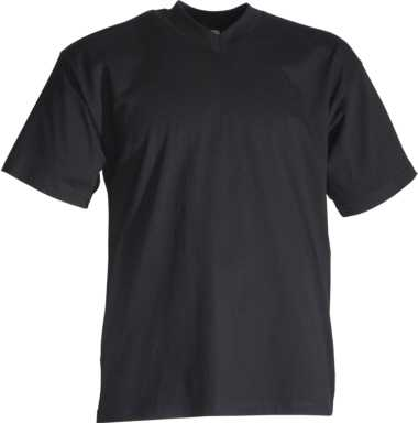 T-Shirt schwarz mit V-Ausschnitt, JOB