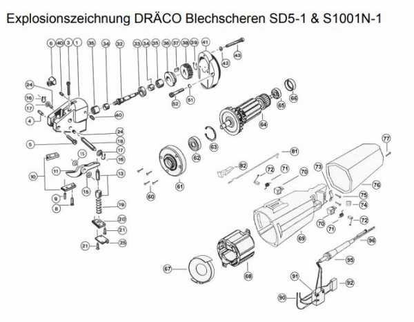 DRÄCO BG10002 Baugruppe Spanführung Pos. 4-6