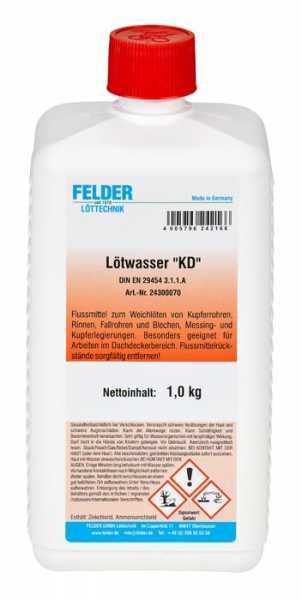 "Felder Lötwasser ""KD"" 1 Kg"